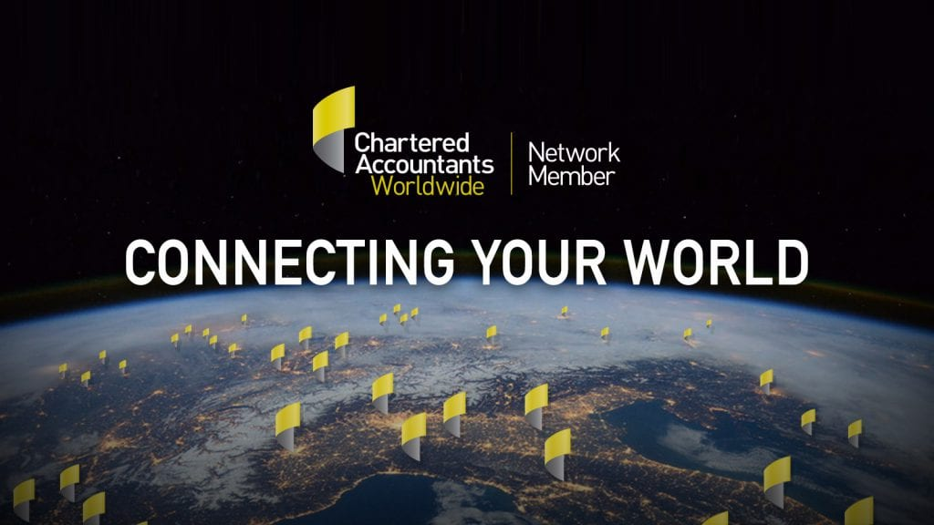 CONNECTING YOUR WORLD: CHARTERED ACCOUNTANT WORLDWIDE (CAW) LOGO LAUNCH