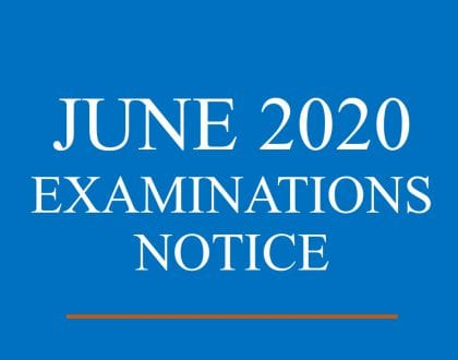JUNE 2020 EXAMINATIONS NOTICE