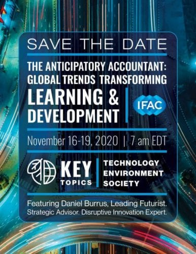 Upcoming IFAC Virtual Global Summit: The Anticipatory Accountant